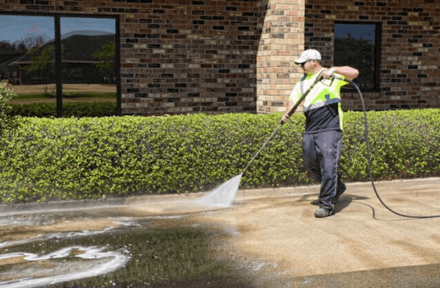 commercial concrete cleaning in overlandpark